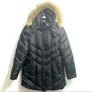 Mark New York Andrew Marc down feather hooded coat